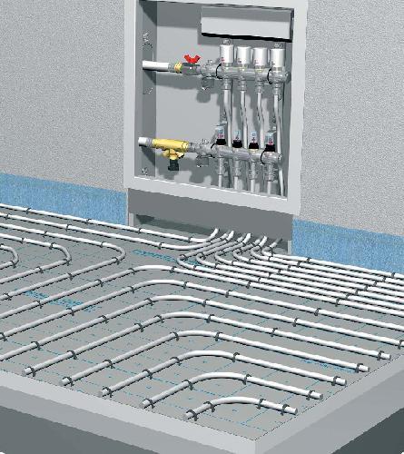 Система теплый пол водяной своими руками