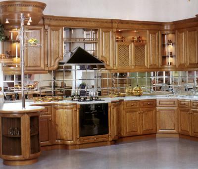 Зеркальная плитка в кухне