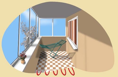Делаем теплый пол на балконе и лоджии на примере инфракрасной и кабельной систем