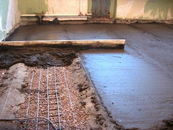 Как сделать бетонную стяжку