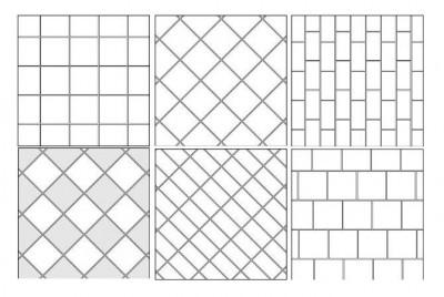 Примеры укладки плитки в ванной, созданные на основе базового варианта.