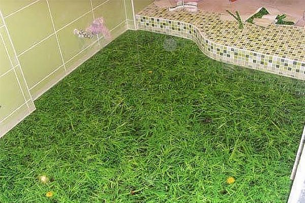 Заливка пола в ванной