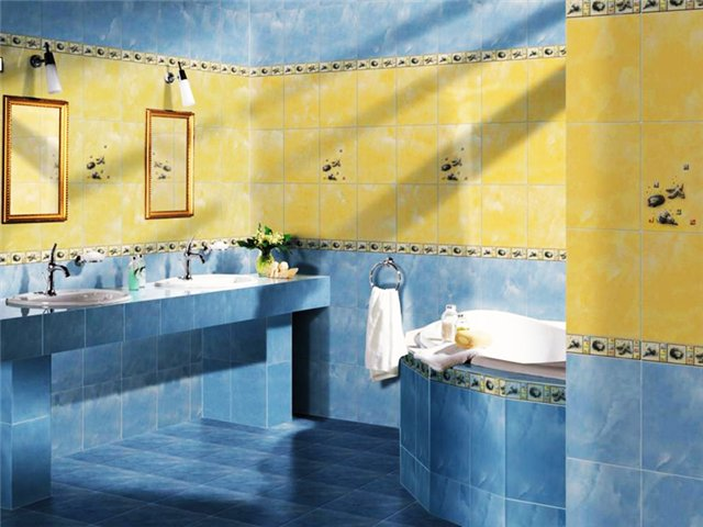 Фото-примеры оформления и декора ванной комнаты плиткой: 7 идей по комбинированию