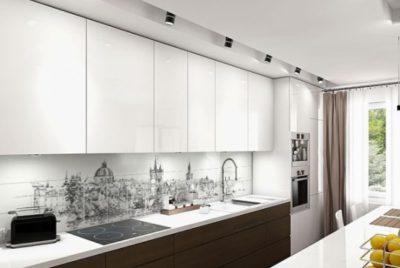 Кухонный фартук защищает стройматериалы и украшает обстановку