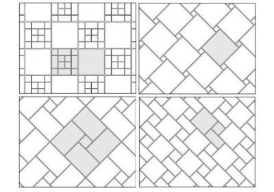 Модульные схемы раскладки плитки.