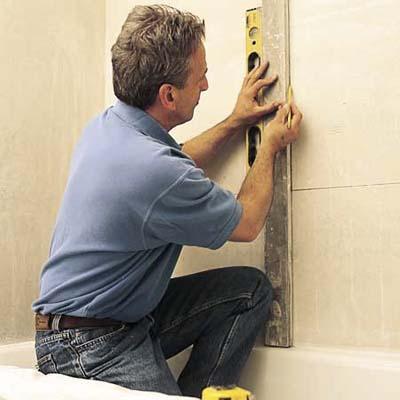 Как класть плитку на стену - подготовка поверхности