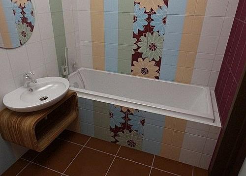 Что можно сделать в ванной стандартной многоэтажки из обычной плитки