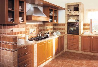 Оформление кухни плиткой