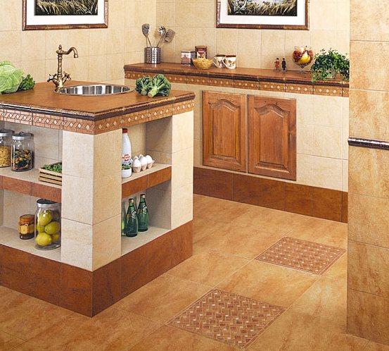Модные стены для кухни