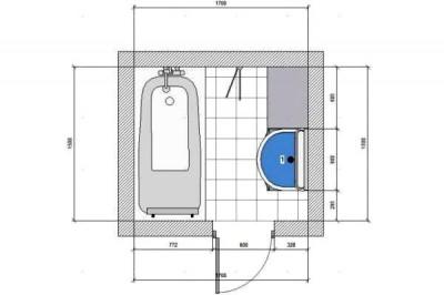 План для отделки ванной комнаты плиткой