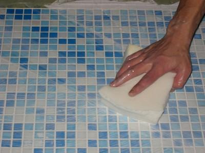 Затирка для швов плитки - очистка поверхности