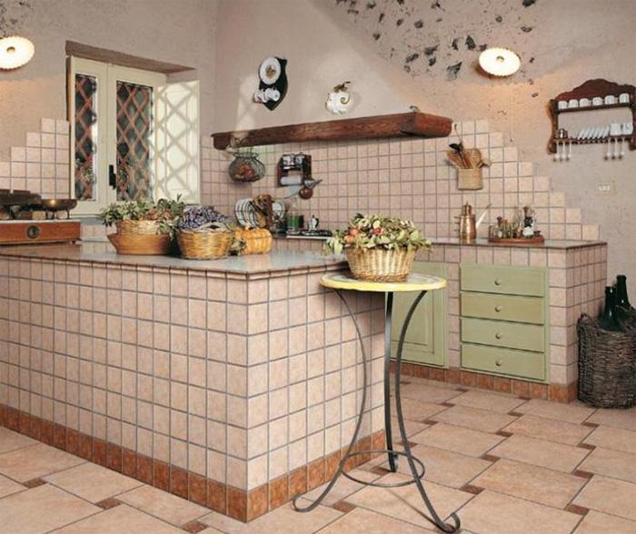 керамическая плитка для кухни на пол фото