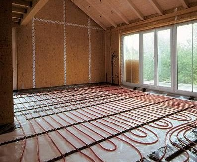 Электрический теплый пол в деревянном доме: система «на воздушной подушке»
