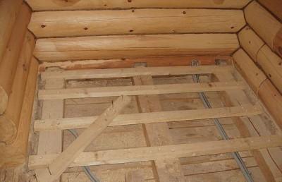 Идеально расстояние между балками при укладке пола в деревянном доме - 60 см