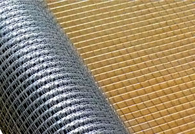 Прикрепление армированной сетки перед нанесением смеси