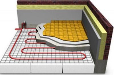 Схема теплого пола с керамическим напольным покрытием