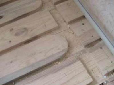 Теплый пол на деревянный пол - подготавливаем пазы
