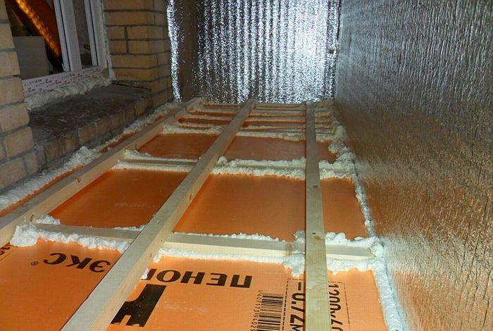 Утепление пола пеноплексом на балконе и лоджии: особенности проведения монтажа