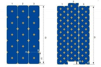 Раскладка ковролина с рисунком