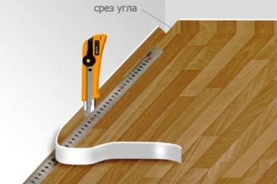 Диагональные разрезы в углах для удобной обрезки