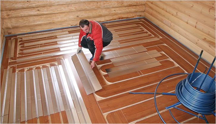 Теплый пол в бане: сравнительный обзор систем обогрева при устройстве в банном помещении