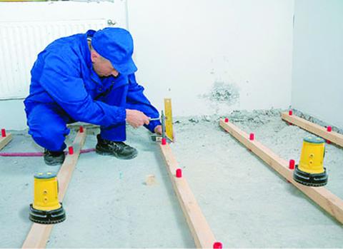 Размер лаг на бетонный пол