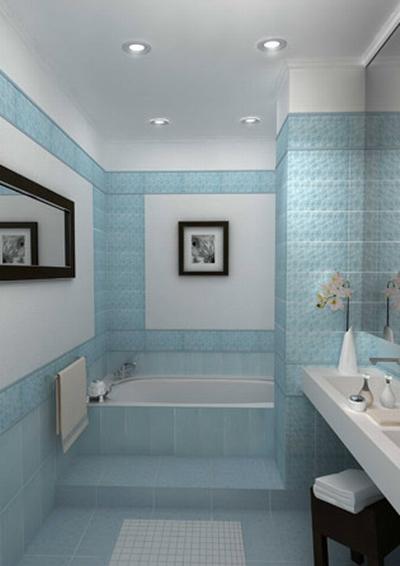 Использование контраста в интерьере ванной