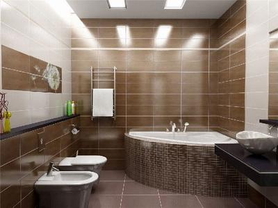 Освещение придает особое очарование интерьеру ванной