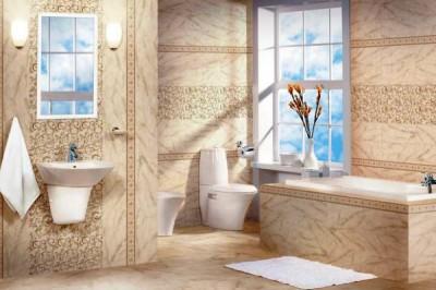 Матовая керамическая плитка для туалета