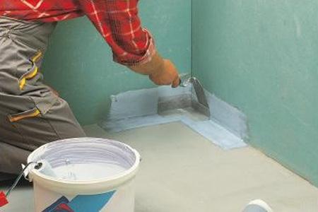 Гидроизоляция пола своими руками: работа с цемент-полимерной мастикой