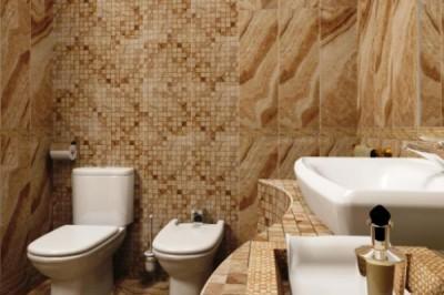 Плитка для ванной и туалета разного размера в одном варианте отделки