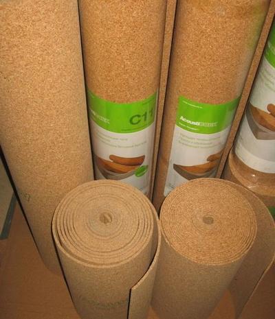 Рулонная пробковая подложка под финишные напольные покрытия