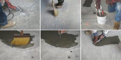 Этапы ремонта бетонной стяжки
