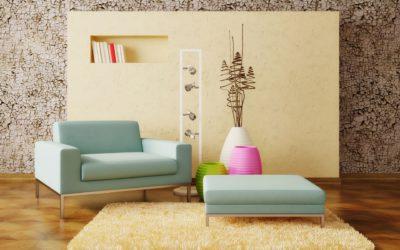 Ковер персикового оттенка сделает любую комнату светлее