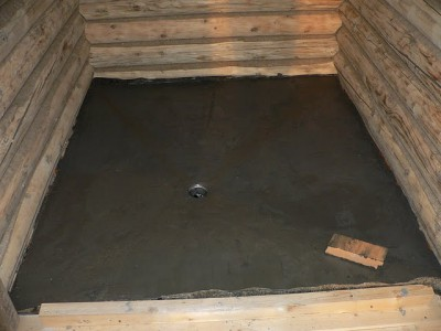 Как правильно устроить пол в бане на бетонном основании?