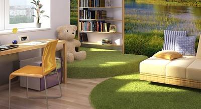 На небольшом подиуме можно разместить игрушки и книжные полки