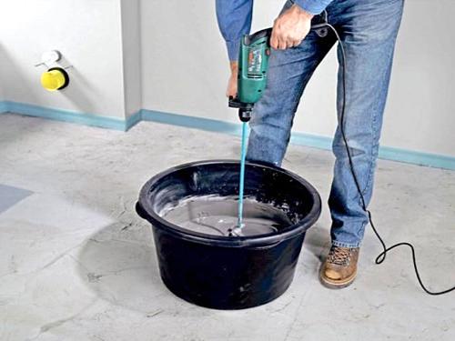 Рулонной гидроизоляции настил