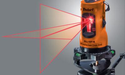 Лазерный уровень излучает лазерный луч