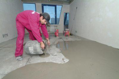 Подготовка поверхности под укладку кварцвиниловой плитки