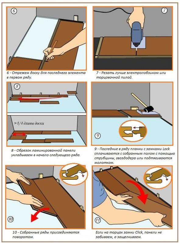 Как класть ламинат своими руками на деревянный 150