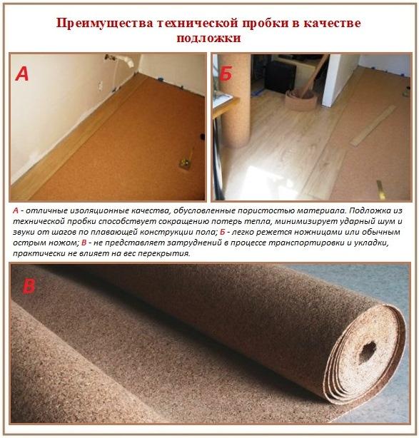 Пробковая подложка под ламинат: отзывы на материал и специфика укладки