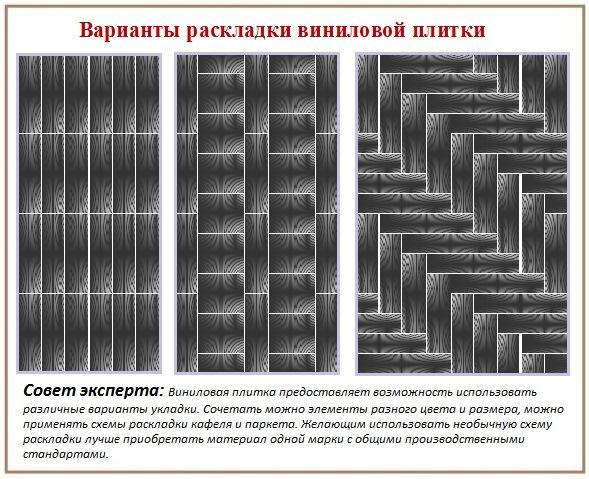 Укладка виниловой плитки для пола: варианты раскладки
