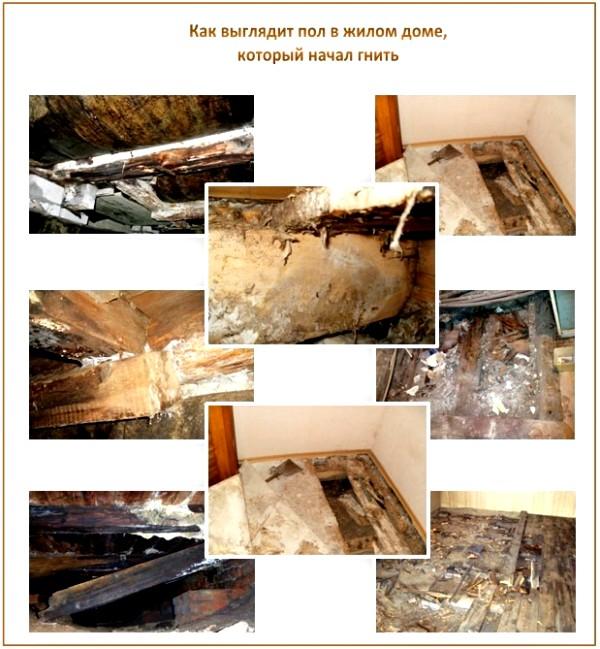 Сгнил деревянный пол
