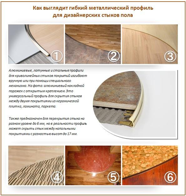 Стыки на полу: как соединить два разных напольных покрытия