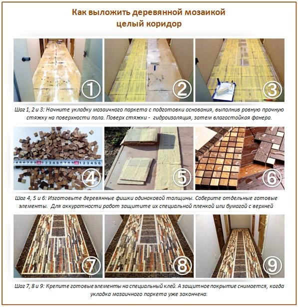 Полы из деревянной мозаики