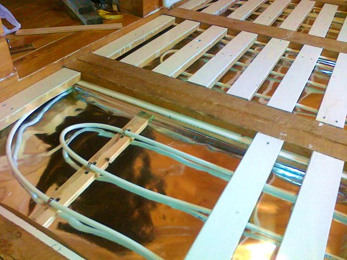 Сухой теплый пол: варианты конструкций водяного теплого пола без стяжки