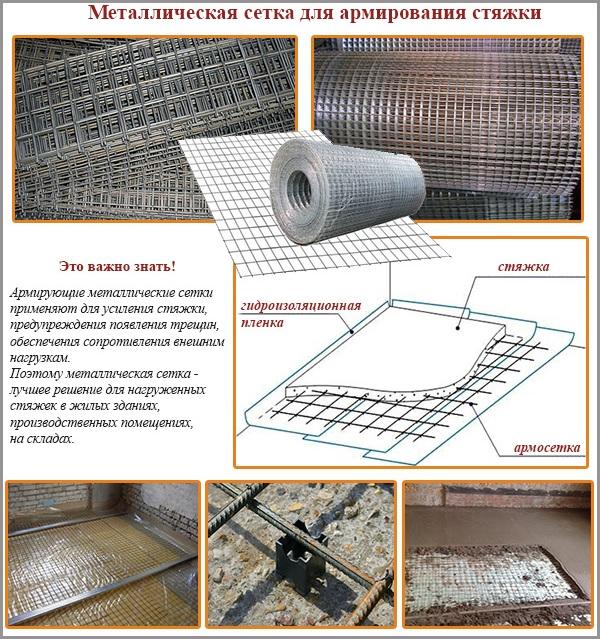 Металлическая сетка для армирования стяжки