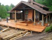 Открытая деревянная террасса
