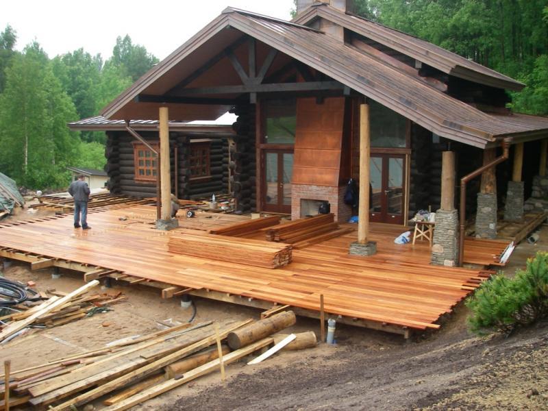 Можно ли класть доску прямо на существующий старый пол открытой деревянной террассы
