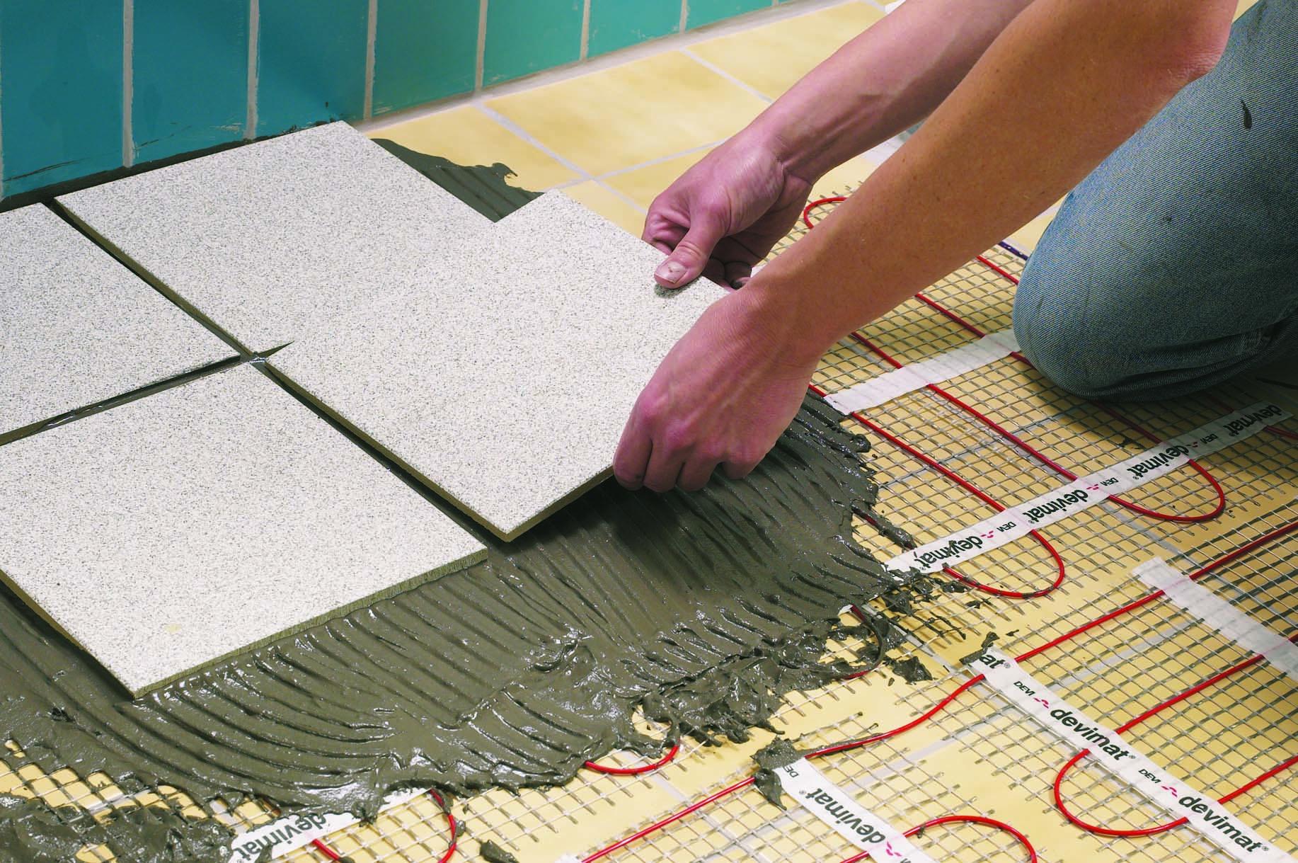 Монтаж бетонной стяжки для электрического тёплого пола